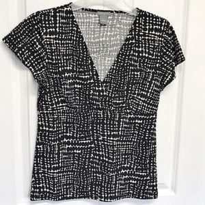 Ann Taylor Black & White Blouse Size S